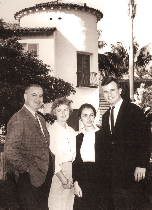 Larry and Polly Solari with Kate Solari Baker and Cam Baker circa 1962.